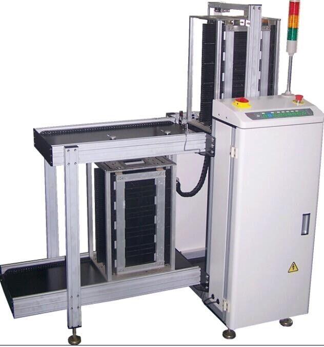High Performance White SMT PCB Conveyor for 5 magazine racks